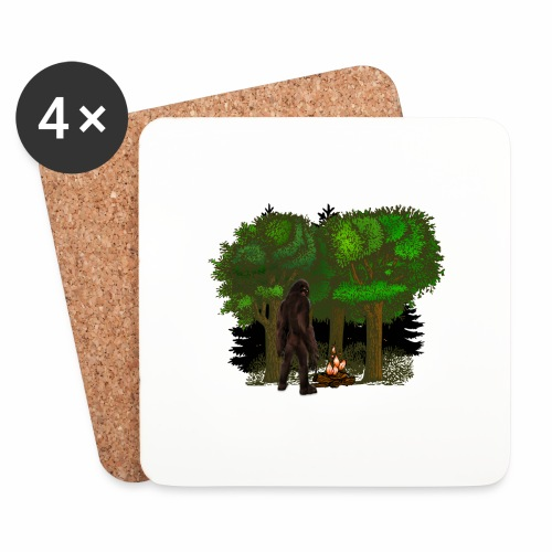 Bigfoot Campfire Forest - Coasters (set of 4)