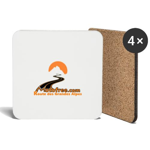 logo motofree orange - Dessous de verre (lot de 4)