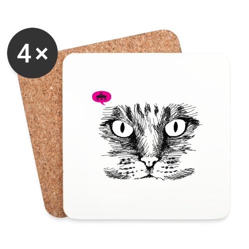kattegezicht vdh - Onderzetters (4 stuks)