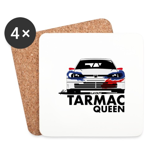 Tarmac Queen 306 Maxi Rally - Dessous de verre (lot de 4)