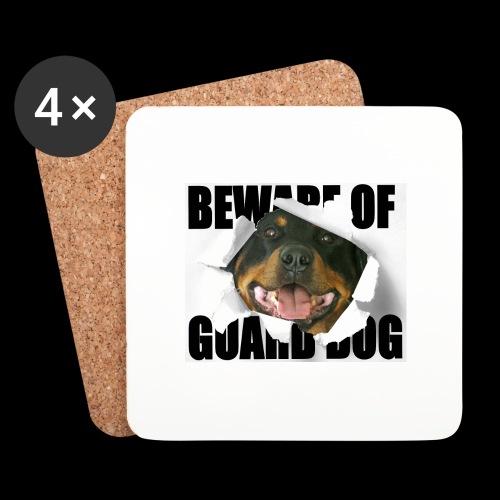 beware of guard dog - Coasters (set of 4)