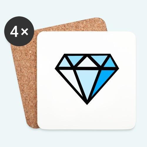 FCTimantti logo ilman tekstia - Lasinalustat (4 kpl:n setti)