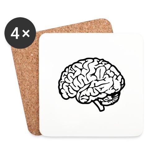 cerveau - Dessous de verre (lot de 4)