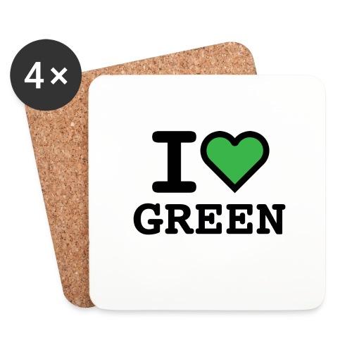 i-love-green-2.png - Sottobicchieri (set da 4 pezzi)