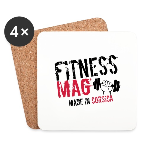 Fitness Mag made in corsica 100% Polyester - Dessous de verre (lot de 4)