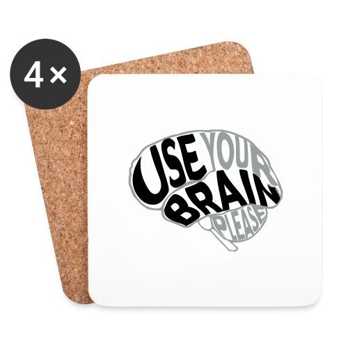 Use your brain - Sottobicchieri (set da 4 pezzi)