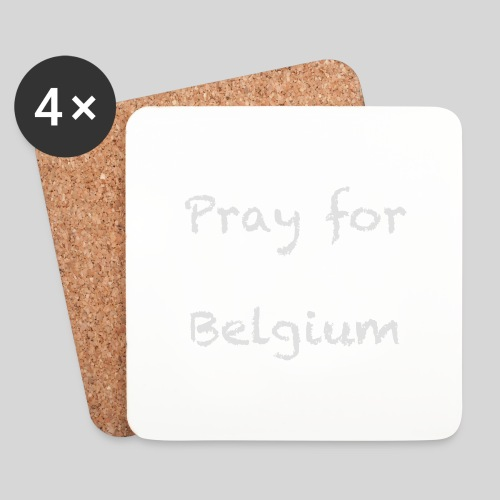 Pray for Belgium - Dessous de verre (lot de 4)