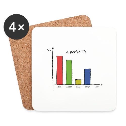 Vita perfetta - Sottobicchieri (set da 4 pezzi)