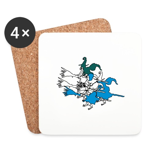 Witches on broomsticks Men's T-Shirt - Coasters (set of 4)