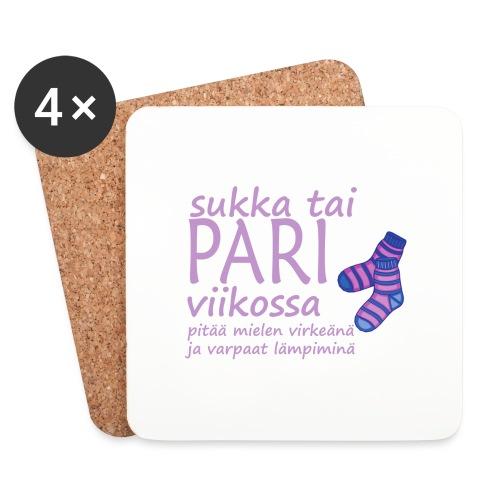 Shawl, pair of socks - Coasters (set of 4)