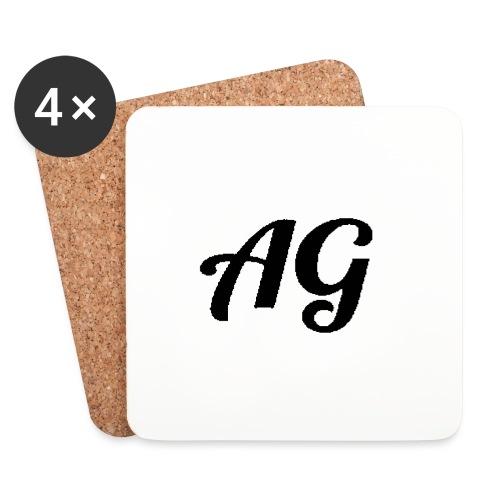 Zwarte Letters - Onderzetters (4 stuks)