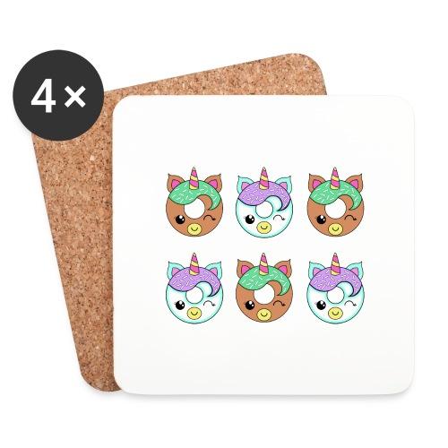 Unicorn Donut - Sottobicchieri (set da 4 pezzi)