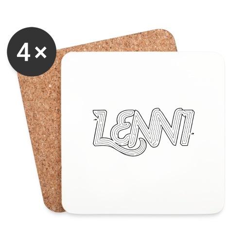 Lenni transparent - Lasinalustat (4 kpl:n setti)