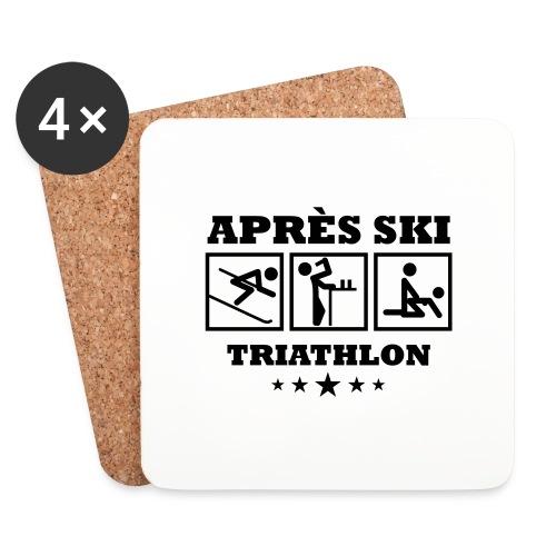 Apres Ski Triathlon | Apreski-Shirts gestalten - Untersetzer (4er-Set)