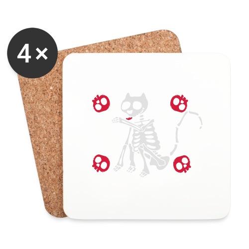 Katzen Skelett - Untersetzer (4er-Set)