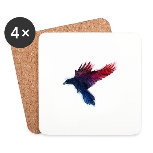 Watercolor Raven - Untersetzer (4er-Set)