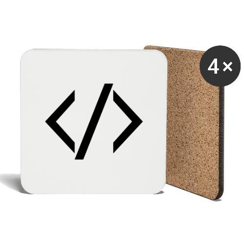 Code - Dark - Coasters (set of 4)