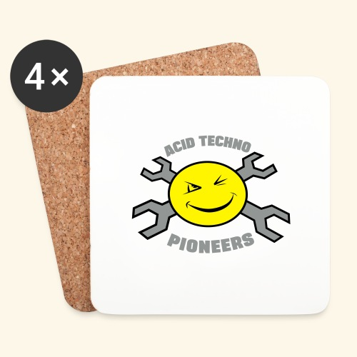 ACID TECHNO PIONEERS - SILVER EDITION - Coasters (set of 4)