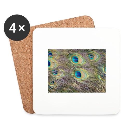 Peacock feathers - Lasinalustat (4 kpl:n setti)