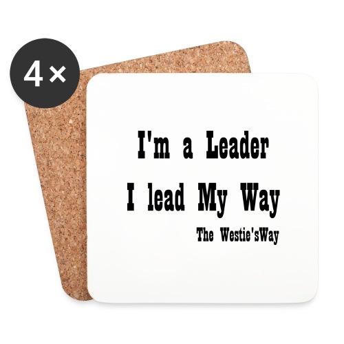 I lead My Way Black - Podstawki (4 sztuki w zestawie)
