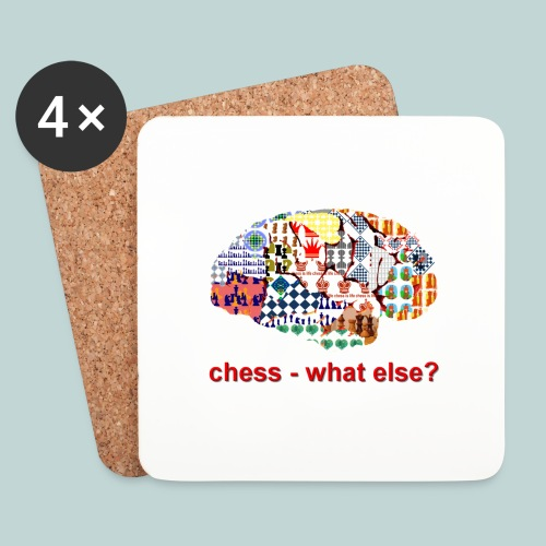 chess_what_else - Untersetzer (4er-Set)