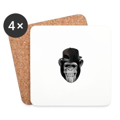 Logo Crazy Monkey - Sottobicchieri (set da 4 pezzi)
