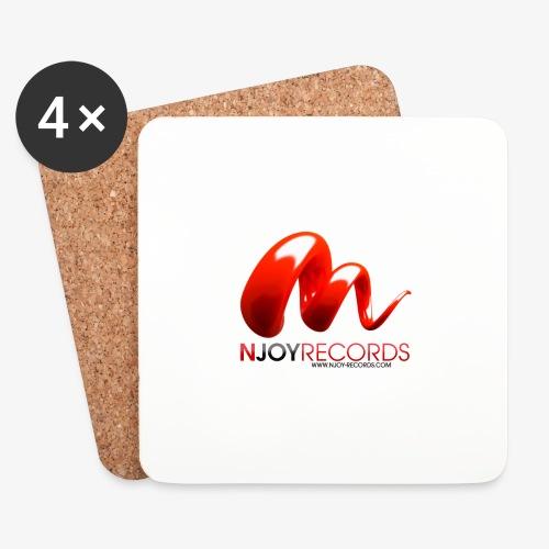 Logo Njoy Records Noir - Dessous de verre (lot de 4)