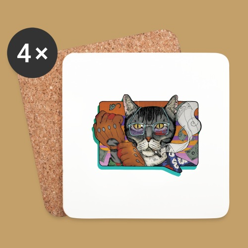 Crime Cat - Podstawki (4 sztuki w zestawie)