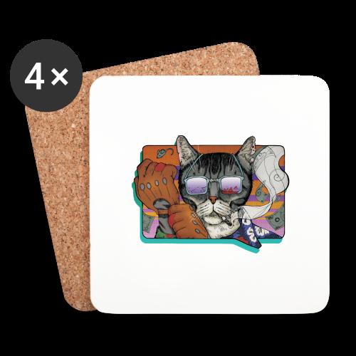 Crime Cat in Shades - Podstawki (4 sztuki w zestawie)