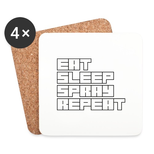 EATSLEEPSPRAYREPEAT - Coasters (set of 4)
