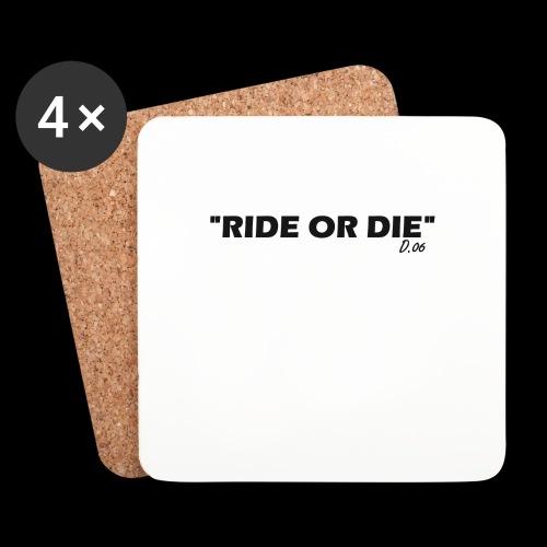 Ride or die (noir) - Dessous de verre (lot de 4)