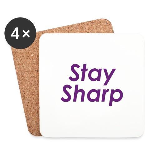 Stay Sharp - Sottobicchieri (set da 4 pezzi)