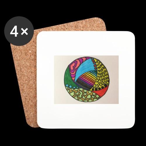 circle corlor - Glasbrikker (sæt med 4 stk.)