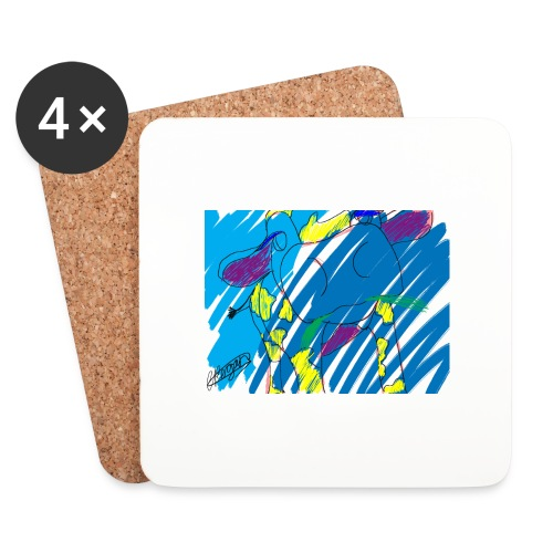 Signed Rainbow Cow - Coasters (set of 4)