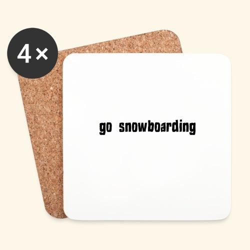go snowboarding t-shirt geschenk idee - Untersetzer (4er-Set)