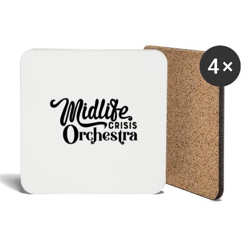 Midlife Crisis Orchestra svart logo - Underlägg (4-pack)