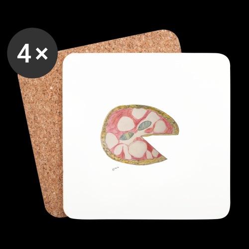 BY TAiTO Big Pizza - Lasinalustat (4 kpl:n setti)