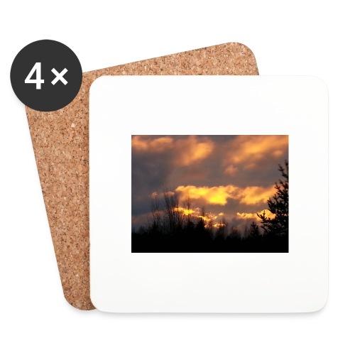 Iltarusko - Lasinalustat (4 kpl:n setti)