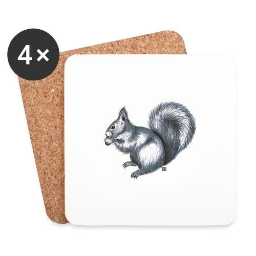 Eichhörnchen - Untersetzer (4er-Set)