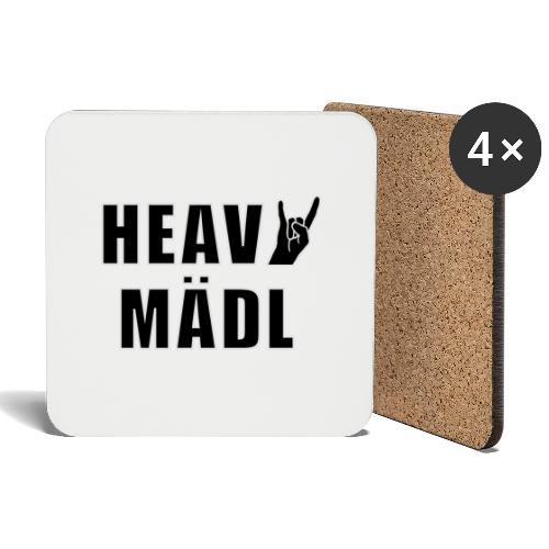 Heavy Mädl - Untersetzer (4er-Set)