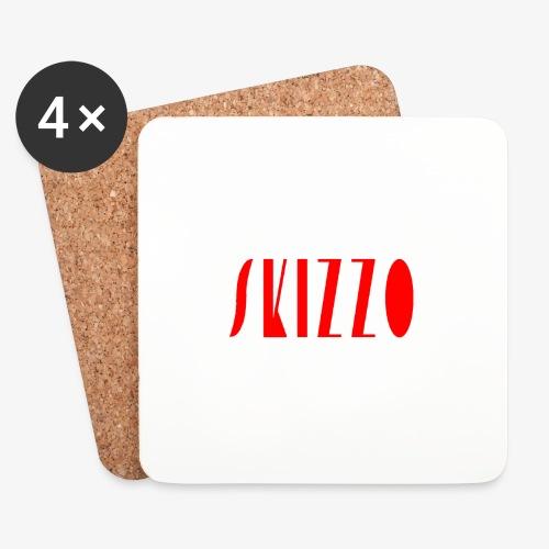 skizzo rosso - Coasters (set of 4)