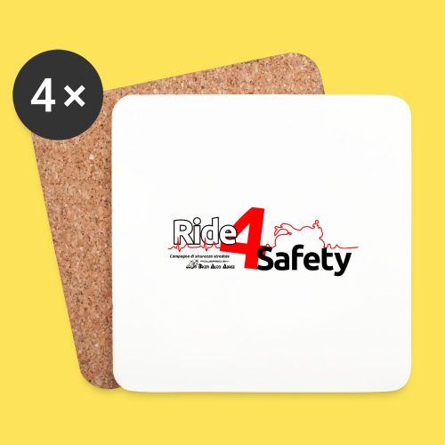 Ride4Safety - Sottobicchieri (set da 4 pezzi)