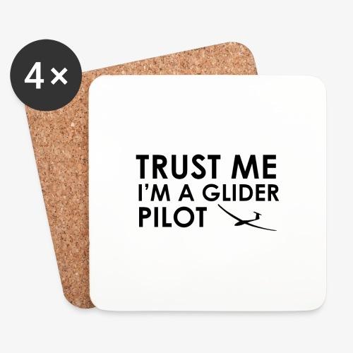 Trust me glider pilot - Dessous de verre (lot de 4)