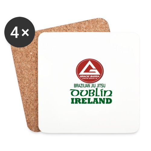 Gracie Barra Dublin Gaelic Celtic Font PNG - Coasters (set of 4)