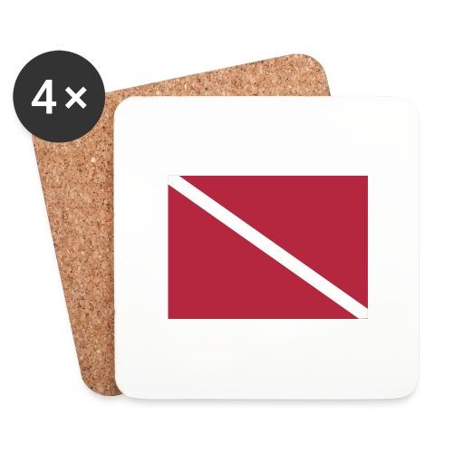 Diver Flag - Coasters (set of 4)