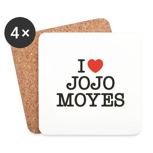 I LOVE JOJO MOYES - Glasbrikker (sæt med 4 stk.)