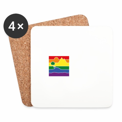GOC Logo White Text - Coasters (set of 4)