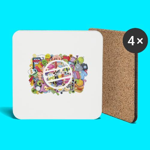 maglia logo doodle - Sottobicchieri (set da 4 pezzi)