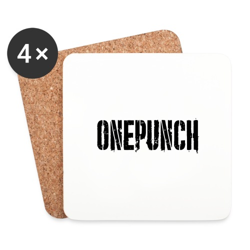 Boxing Boxing Martial Arts mma tshirt one punch - Coasters (set of 4)