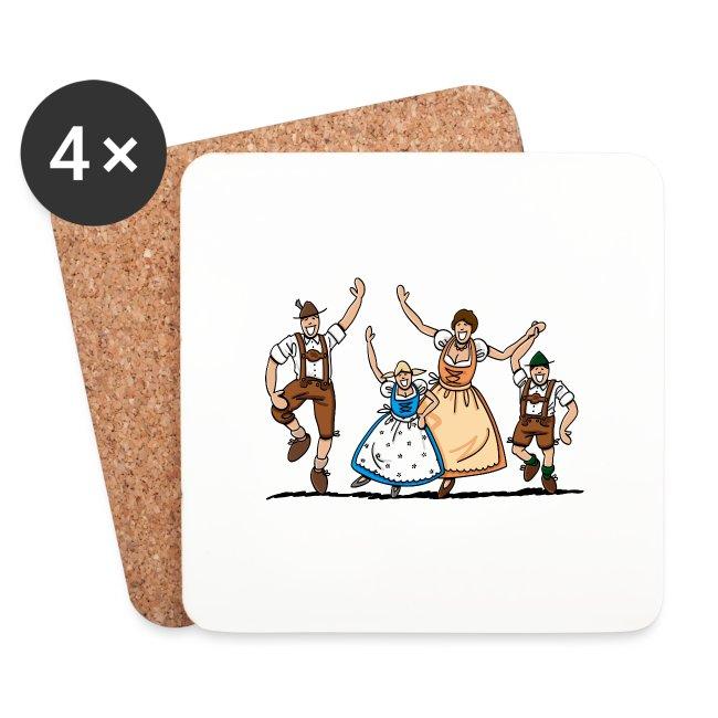 Tanzende Oktoberfest Familie in Tracht